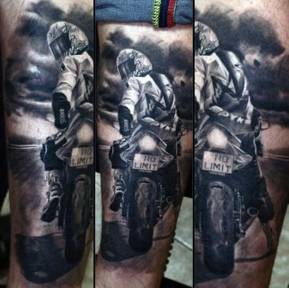 Masculine Street Biker Tattoos For Men