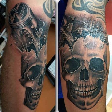 Masculine Tattoo With Piston