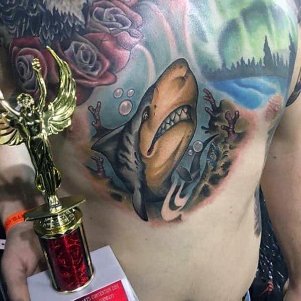 Masculine Tiger Shark Tattoos For Men