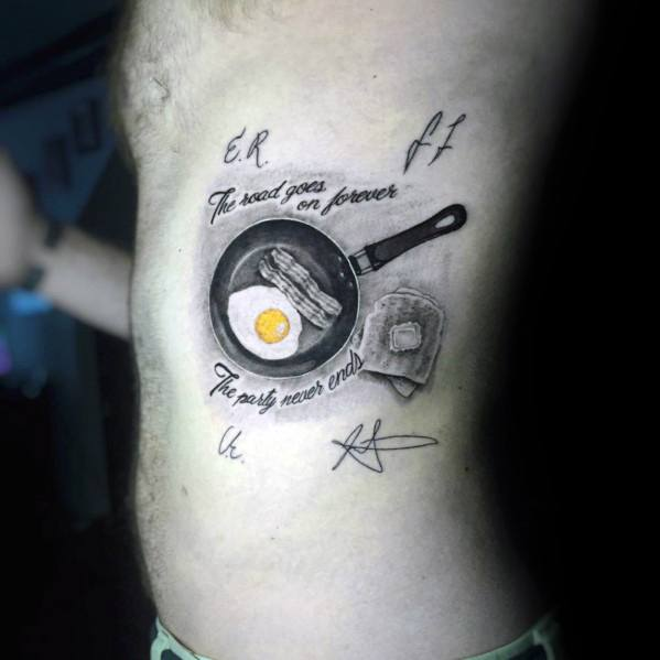Masculine Toast Tattoos For Men