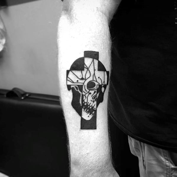 Masculine Traditional Cross Tattoos For Men