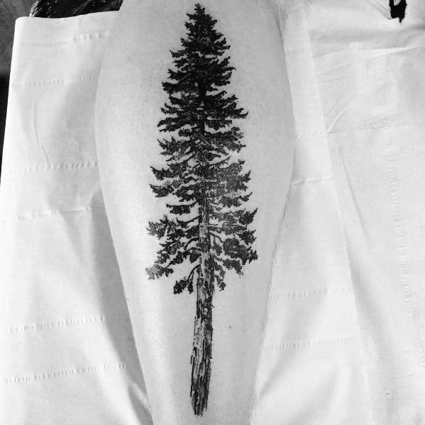 Masculine Tree Leg Tattoos For Men