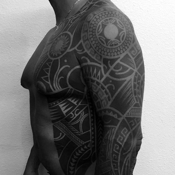 Masculine Tribal Tattoos For Guys On Rib Cage Side