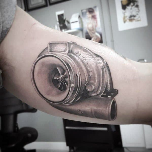 Masculine Turbo Tattoos For Men