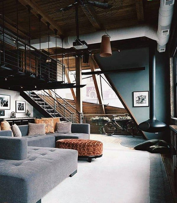 Masculine Ultimate Bachelor Pad Design Inspiration