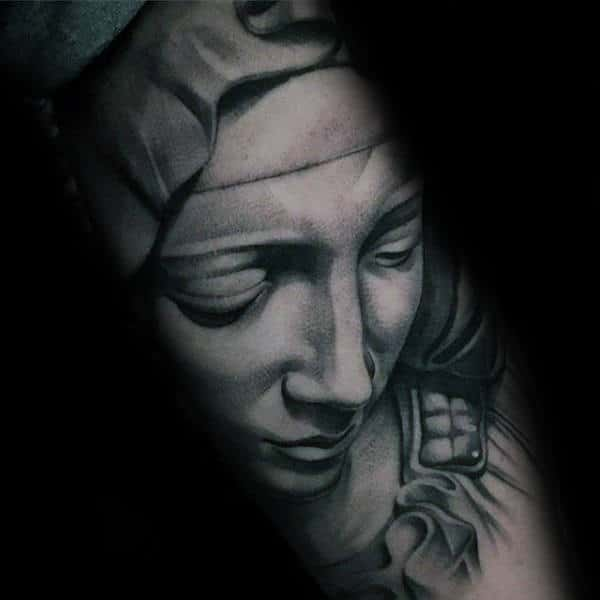Masculine Virgin Mary Guys Arm Tattoos