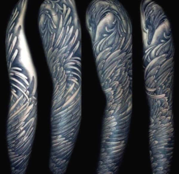 Masculine Wing Tattoos For Men Full Sleeve Design Inspiration