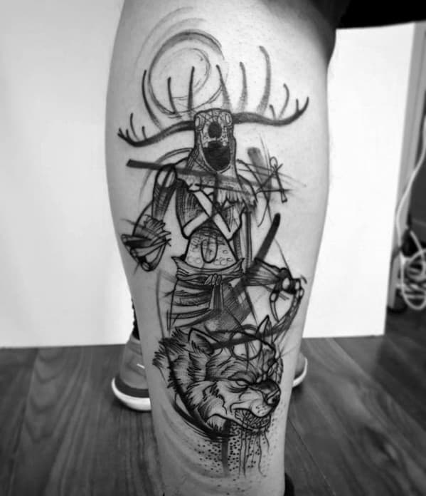 Masculine Witcher Tattoos For Men