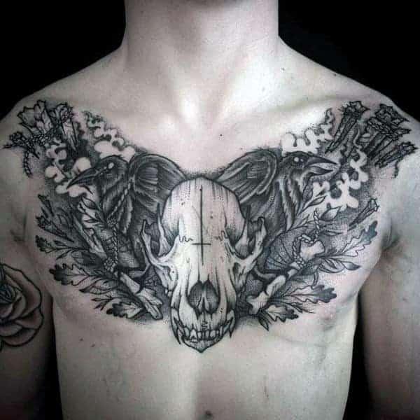 masculine-wolf-skull-guys-upper-chest-tattoo – Copy