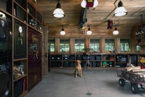 Masculine Wood Garage Ceiling Ideas