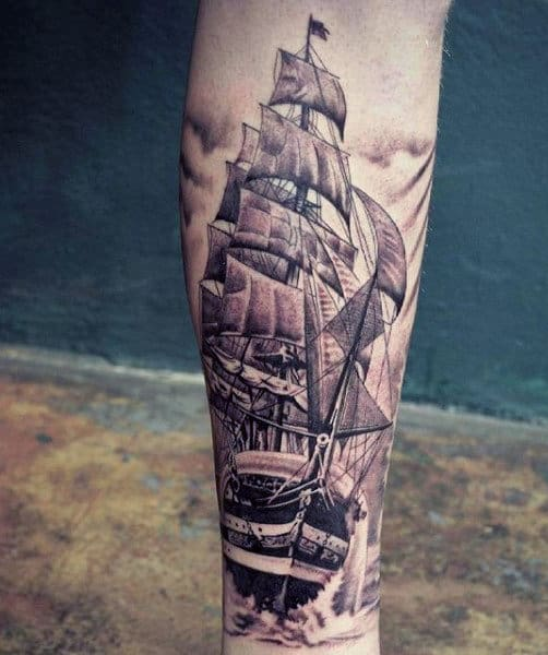 Masculine Wrist Sailors Tattoo For Males