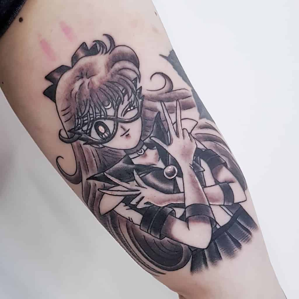 Mask Black Art Sailor Moon Tattoo