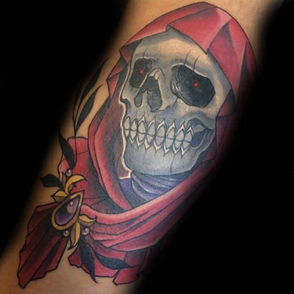Masque Of The Red Death Mens Edgar Allan Poe Tattoos