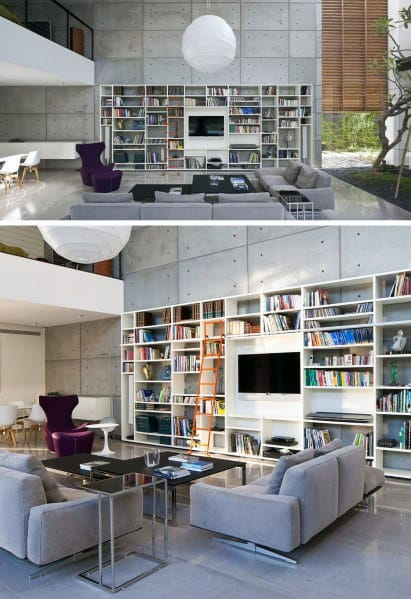 Massive Bookcase Good Ideas For Television Walls