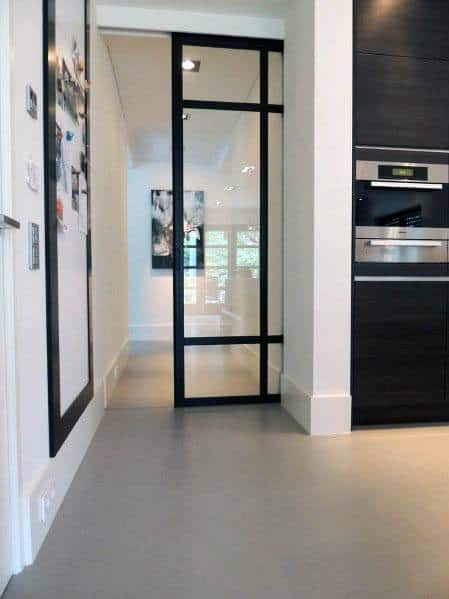Massive Glass Full Wall Modern Remarkable Ideas For Pocket Door