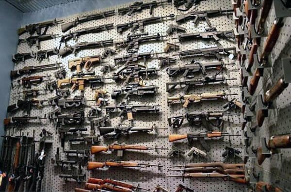 Massive Gun Wall Room