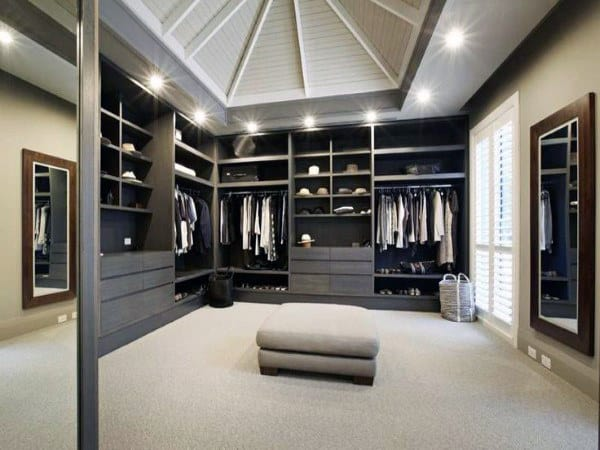 Top 100 best closet designs for men walk in wardrobe ideas - Mens walk in closet ...