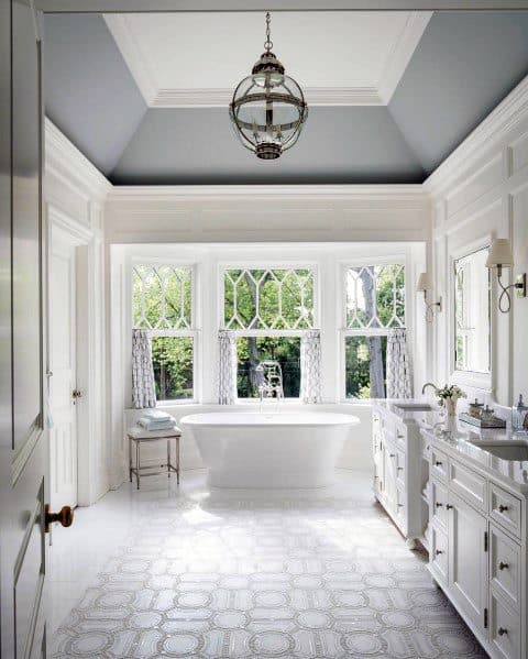 Master Bathroom Crown Molding Ideas With Vaulted Ceiling