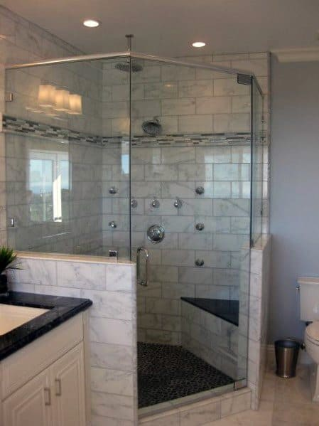Master Bathroom Design Ideas Corner Shower