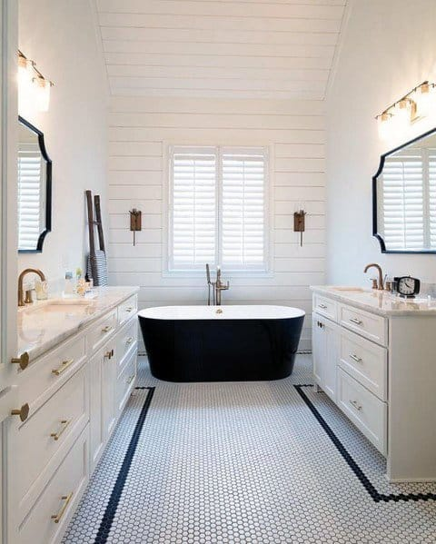 Master Bathroom Home Interior Shiplap Wall