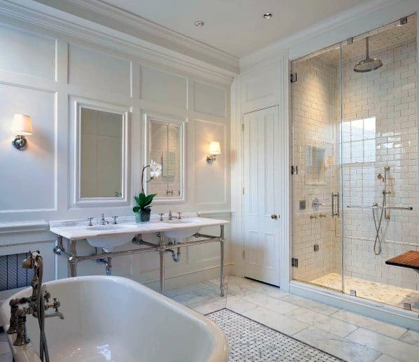 Master Bathroom Ideas For Crown Molding Interior