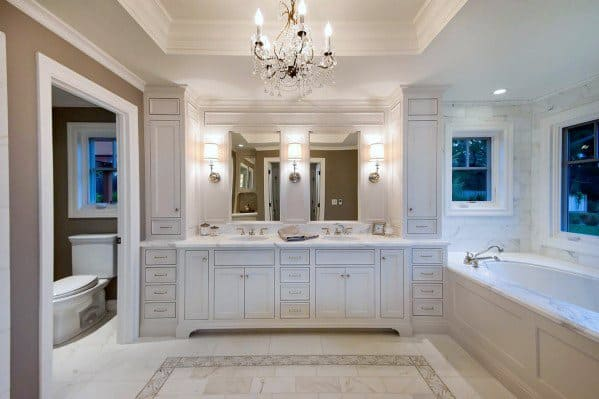 Master Bathroom Trey Ceiling Crown Molding Interior Design