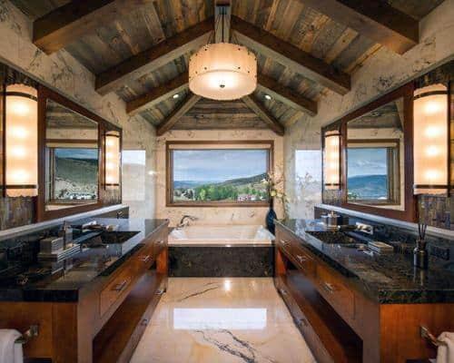 Master Bathroom Vaulted Ceiling Ideas Wood