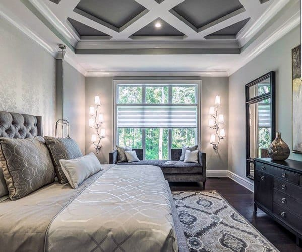 Master Bedroom Ideas Grey And White Color