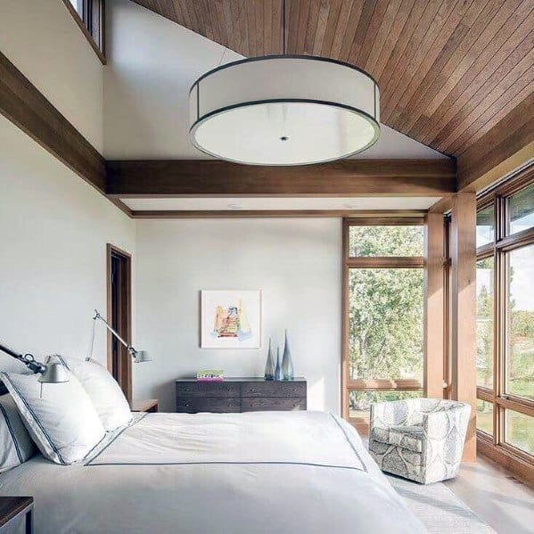 top 70 best bedroom lighting ideas light fixture designs 12708 | master bedroom lighting drum chandelier