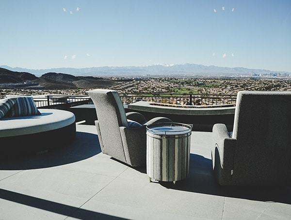 Master Bedroom Outdoor Patio Seating Area Las Vegas Nevada 2019 New American Home