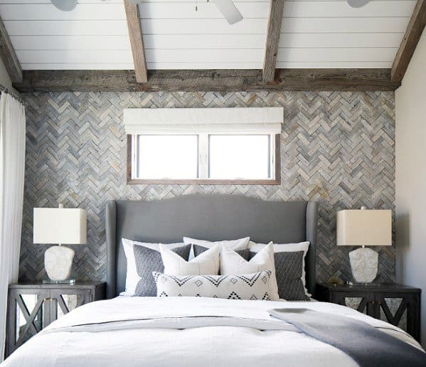 Herringbone Accent Wall: Top 70 Best Wood Wall Ideas