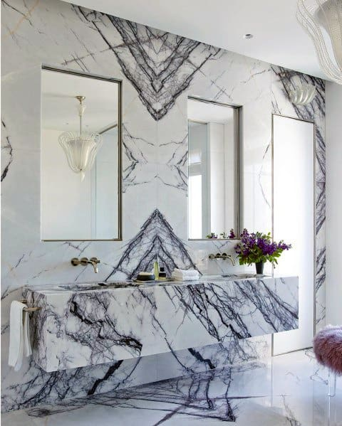 Master Marble Bathroom Vanity Ideas