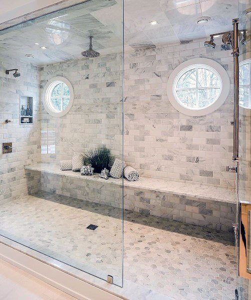 Master Shower Design Ideas For Marble Bathroom