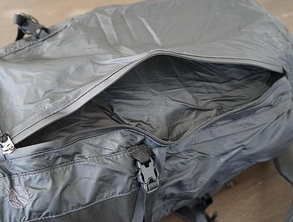 Matador Freerain24 Front Zippered Pocket Backpack On Side