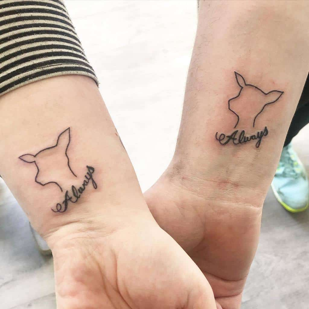 matching couple always tattoos ashdarbyshire