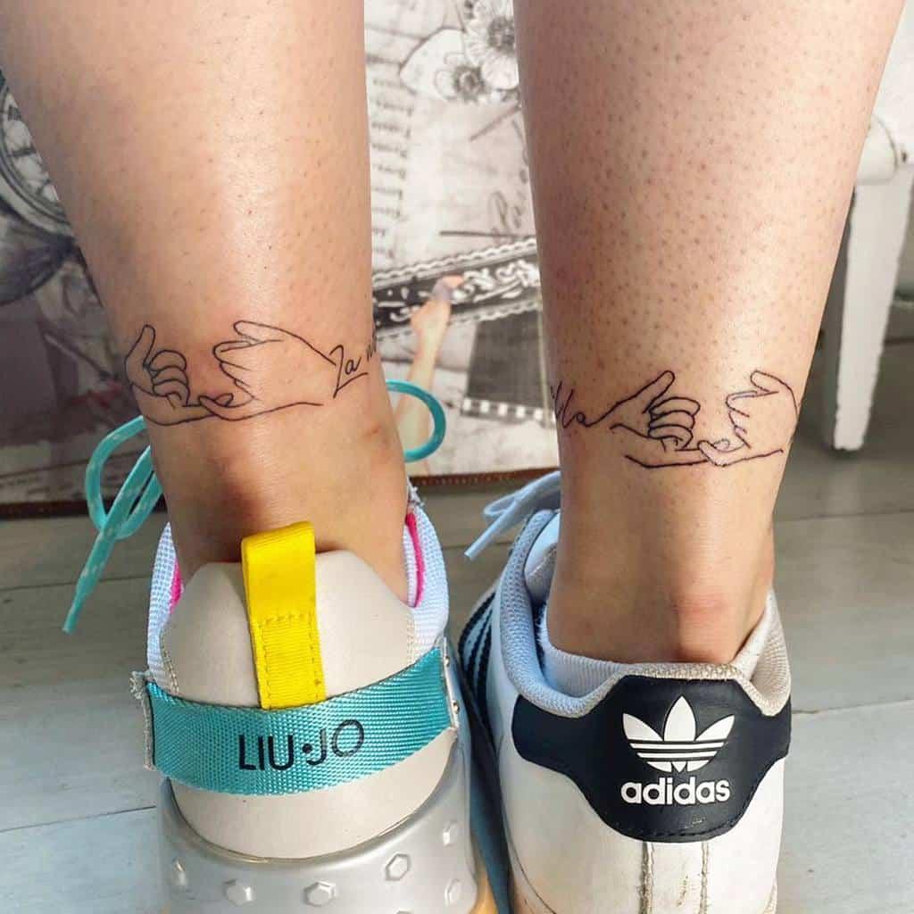 Matching Pinky Promise Tattoos Blok Tattoo
