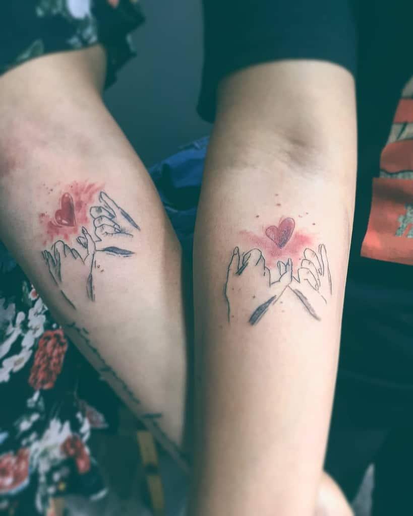 Matching Pinky Promise Tattoos Elcuervonegrotattoo