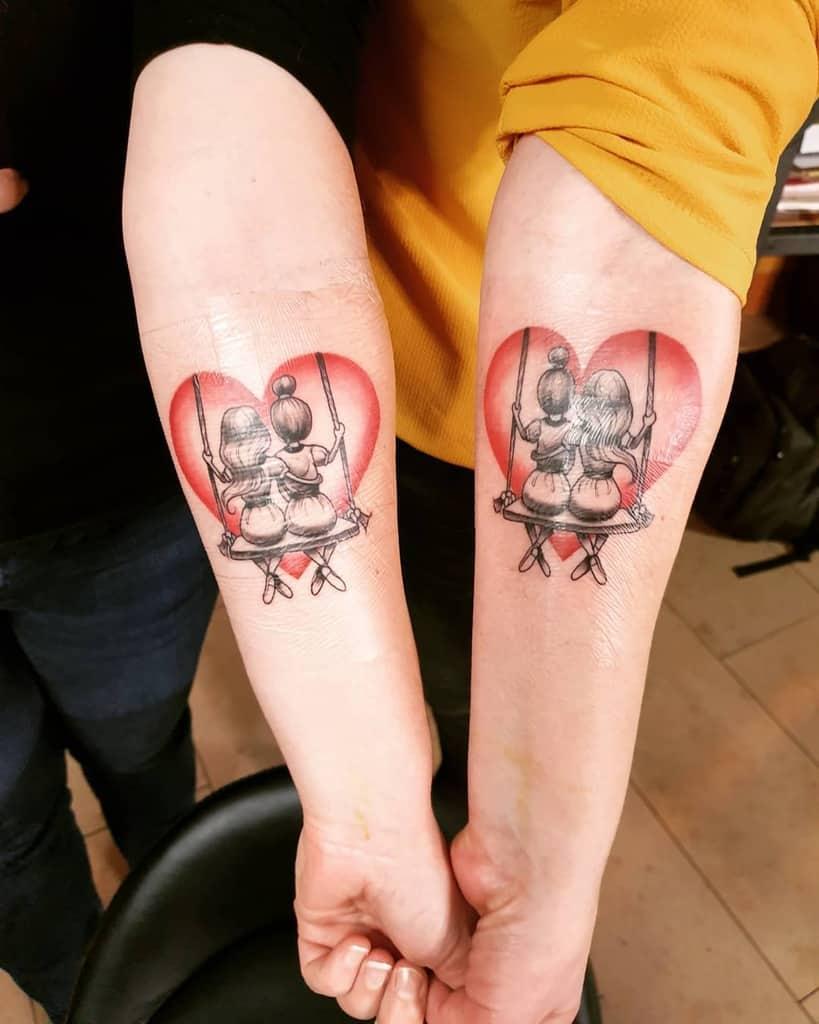matching sister tattoos katjadunkel