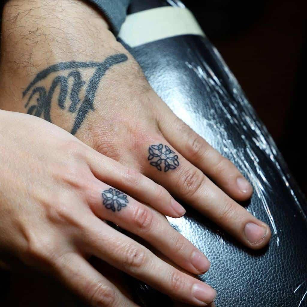 Matching Themed Wedding Ring Tattoo Livinfree315