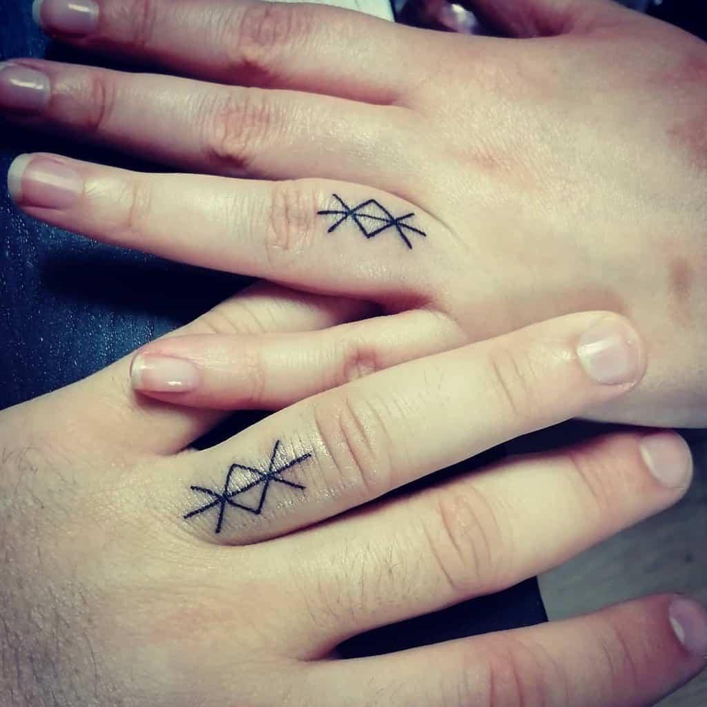 Matching Themed Wedding Ring Tattoo Todspade