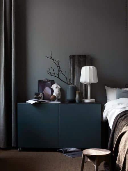 Matte Black Bedroom Wall Designs