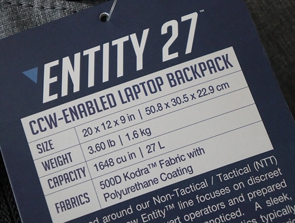 Maxpedition Entity 27 Backpack Tag