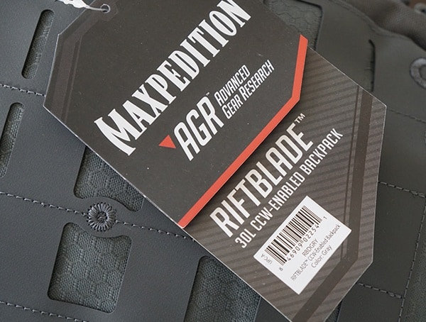 Maxpedition Riftblade Backpack 30 Liter Tag
