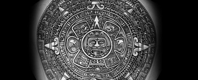 40 Mayan Calendar Tattoo Designs For Men – Tzolkin Ink Ideas