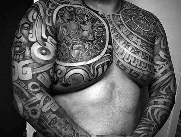 Mayan Different Tattoo Design Styles