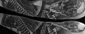 60 Mc Escher Tattoo Designs For Men – Graphic Artist Ink Ideas