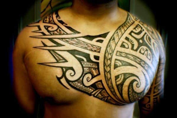 Top 60 best tribal tattoos for men symbols of courage for Meaningful mens tattoos