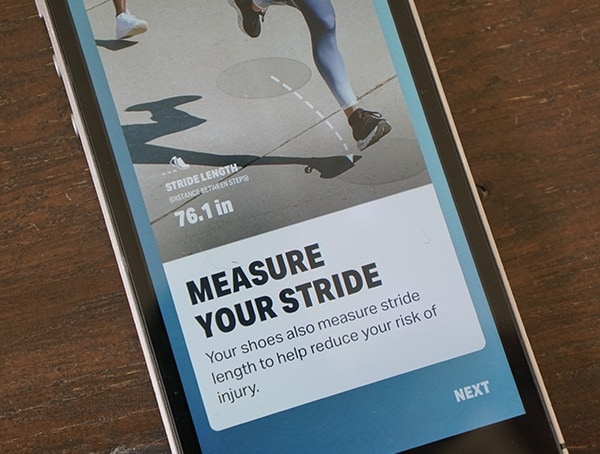 Measure Your Stride Under Armour Hovr Sonic App