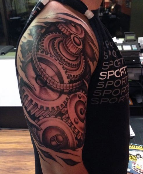 Mechanic Tattoo For Men