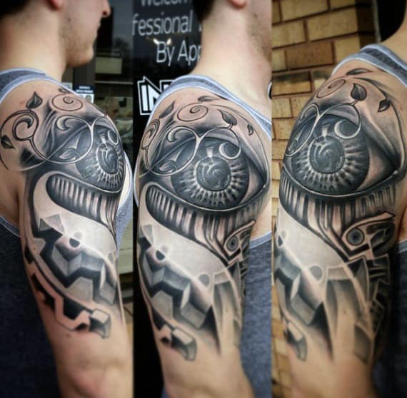 Mechanical Tattoo Sleeve For Men